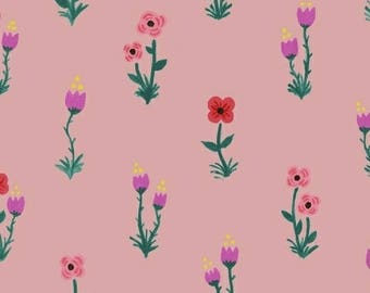 Folk Fleur in Petal - Meriwether by Amy Gibson- Windham Fabrics