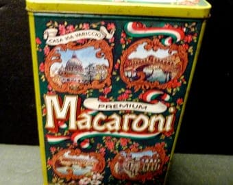 Premium Maconi tin box - nice hinged box  made in England- Italian Scenes