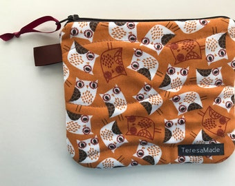X-Small Owl Zip Pouch