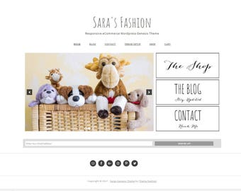 Ecommerce Wordpress Theme  - Genesis Wordpress Theme - Woocommerce Theme - Sara's Fashion