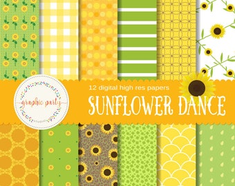 Sunflower Paper Pack for Scrapbooking