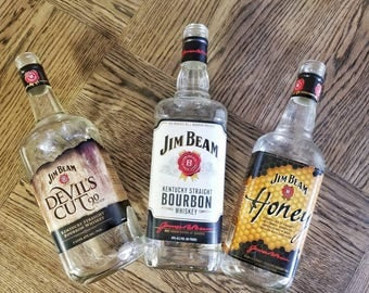 Empty Jim Beam Collection of 3 Empty Bottles