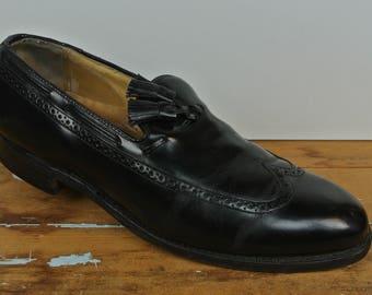 Johnston & Murphy Black Longwing Tassel Loafer Men's Size: 9D