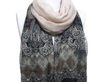 Paisley Printed So Soft Lightweight Tassel Scarf Spring Summer Woman Fashion Accessory Scarves Women Gift Ideas For Her Mom Bestfriend