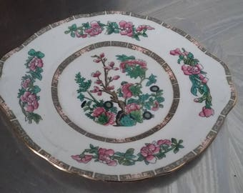 Vintage 'Duchess' Bone China Indian Tree Sandwich Cake Serving Plate