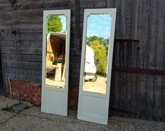 Large Vintage Painted Shabby Chic Mirror. 2 Available Pair Cream 6ft  Collection only