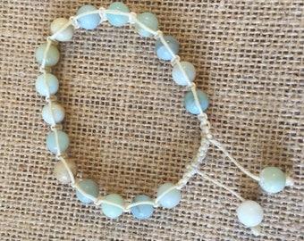 Amazonite shambala bracelet