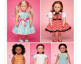 McCalls 7583- Sewing pattern for 18 Inch Doll Clothes- Fits American Girl Dolls