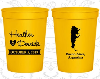 Yellow Stadium Cups, Yellow Cups, Yellow Party Cups, Yellow Wedding Cups (152)