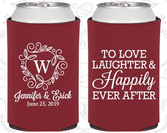 Wedding Can Coolers Love Laughter Happily Ever After Personalized Custom