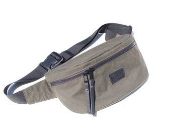Side bag, Sling bag in cotton canvas, Waist bag, Fanny pack, Crossbody bag, Travel pouch, Summer 2017 Fashion, Bum bag, Stylish belt bag