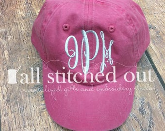 Monogrammed Youth Hat - Youth Pigment Personalized Hat - Personalized youth hat - Monogrammed Ball Cap - Personalized Ball Cap - Kid's hat