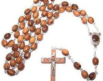 Olive Wood Rosary with Soil From Bethlehem - HolyLandMarket special