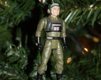 Upcycled Toy Ornament-Soldier