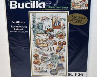Bucilla Counted cross stitch The Century  kit #42560 Limited Edition 1999 New