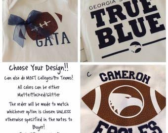 Georgia Southern & Other College/Pro Onesies/Shirts (UGA/Auburn/GT/Alabama/Falcons)
