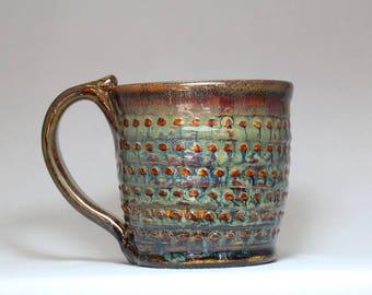 ceramic pottery mug, 12oz coffee cup