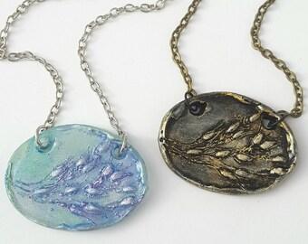 Dinobryon Algae Necklace, biology pendant in color choice