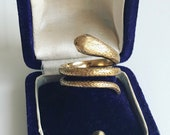 Reserved for BW:  Victorian Gold Snake Ring