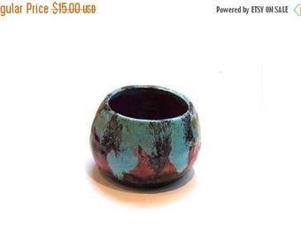 SummerSale Ceramic bowl. Pottery bowl. Small bowl. Blue bowl. Red bowl. Decorative bowl. Trinket bowl. Small ceramic bowl. Small pottery bow