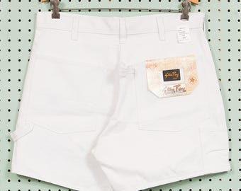 Deadstock 80s/90s Vintage Stan Ray Painters Shorts White Size 34 Made in USA 100% Cotton