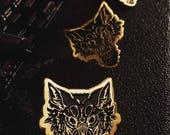 Bad Moon Black/Gold Soft Enamel Pin