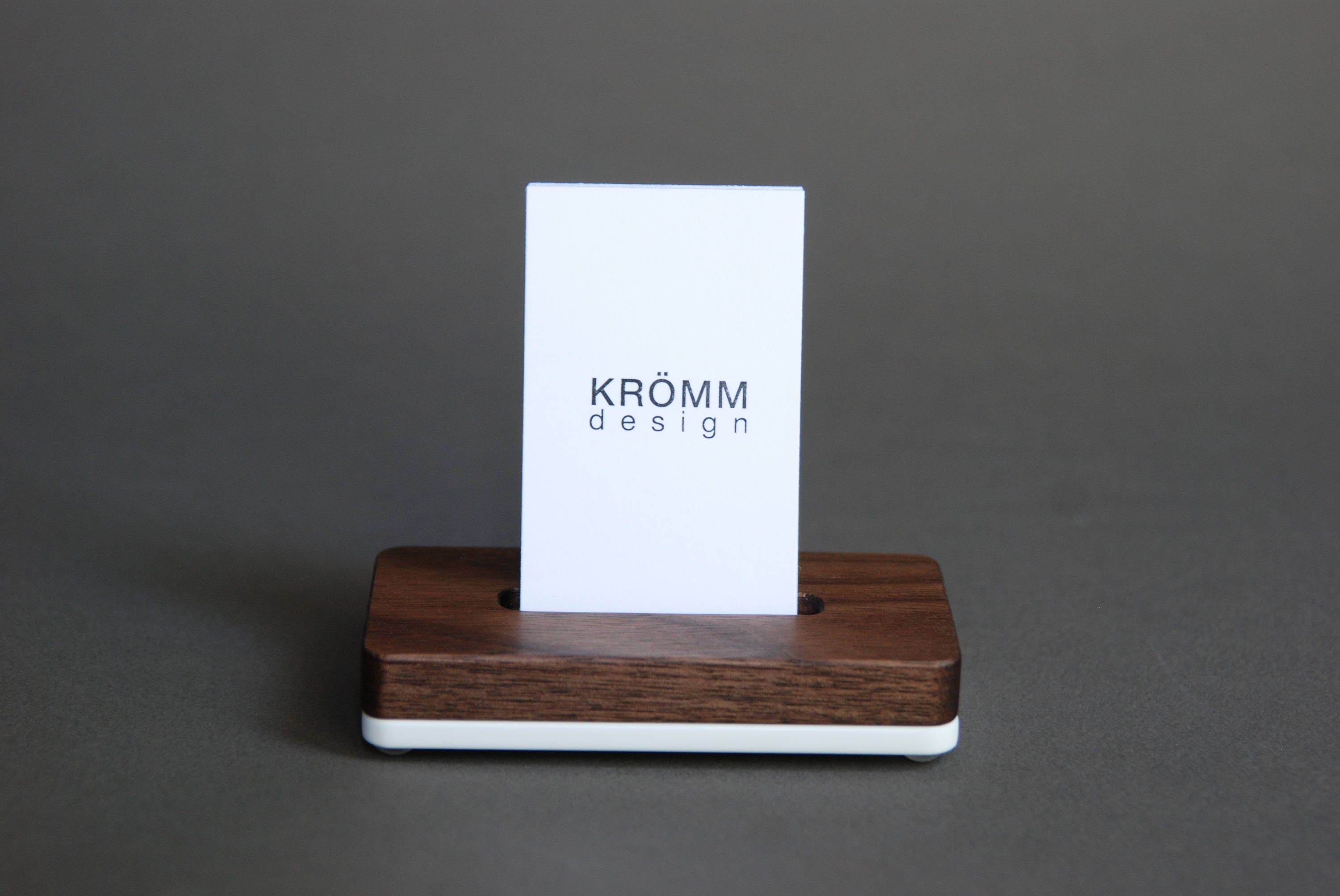 Vertical MOO Business Card Stand / Business Card Display / Wood ...