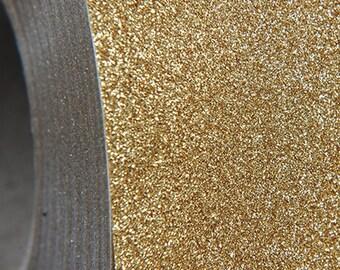 "Glitter Light Gold 20"" Heat Transfer Vinyl Film By The Yard"