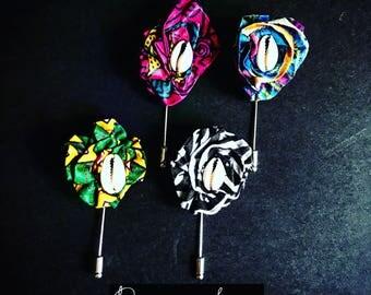 Fleurette Africaine Boutonniere Lapel Pin