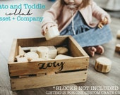 Tato + Toddle Collab: Small CustomCrate ONLY;Rustic crate;Wedding Card Crate;wood crate; kids crate; toy storage ; kids crate; wood crate