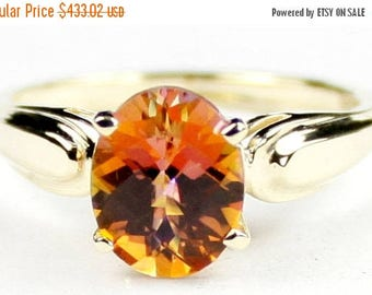 On Sale, 30% Off, Twilight Fire Topaz, 14Ky Gold Ring, R058