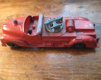 Vintage Hubley Kiddie Toy Red Fire Truck No. 463
