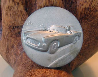 Vintage car trophy medallion, trophy car medallion, trophy medal, Auto racing medallion