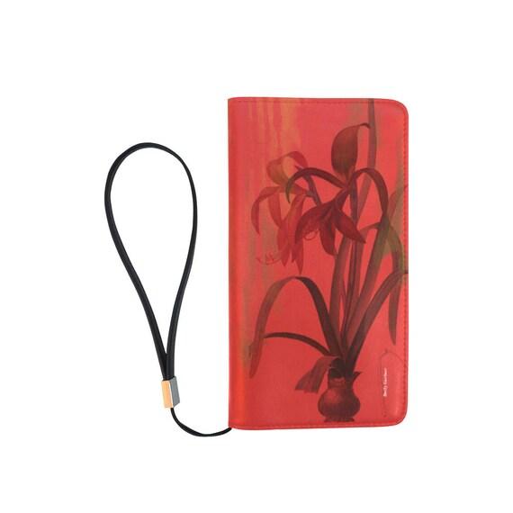 Botanical amaryllis wallet/wristlet