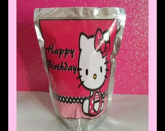 CapriSun juice Label Hello Kitty  instant download, birthday party favor
