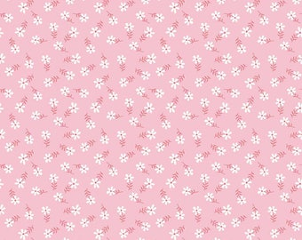 Glamper-licious Daisy Pink Yardage C6315-Pink by By Samantha Walker for Riley Blake Designs