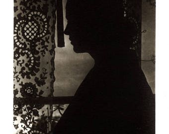 Vintage Photo  ~ abstract silhouette snapshot ~ arty composition
