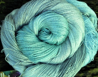 MULBERRY SILK laceweight, pure silk,hand dyed, 100 gms, 800 mts, Mollycoddle Yarns, indie dyer