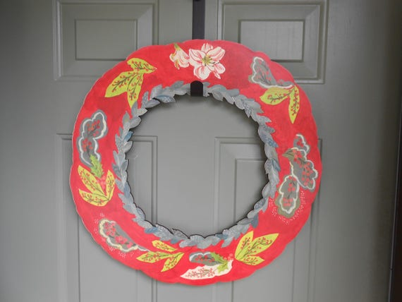 Amaryllis wood wreath, amaryllis wreath, holiday wreath, wreath for front door, rustic Christmas, autumn wreath, red holiday wreath
