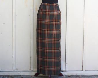 Maxi skirt tartan | Etsy