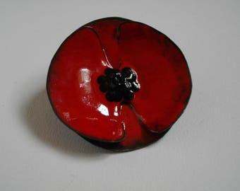 Large brooch, enamel on copper