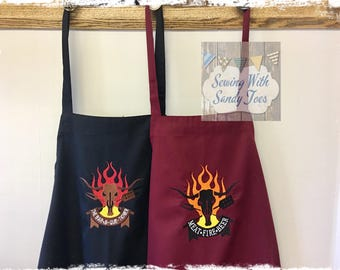 Cooking Apron BBQ Apron Mens Apron Personalized Apron Kitchen Apron Chef Apron Grilling Apron Custom Apron Gifts for him Cook Mans Apron
