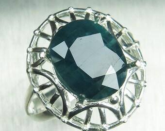Grandidierite ring | Etsy Grandidierite Engagement Ring