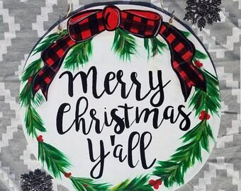 Christmas Wreath Door hanger