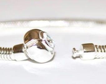 BUNCHABEADS Snake Chain Charm Bead Bracelet - 925 Sterling Silver - BDBR-004-21