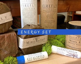 ENERGY Set || power up and energizing || pure plants || safe for sensitive skin || great pick-me-up options || natural alternative