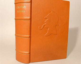 Sherlock Holmes Doyle short story Illustr. leather cover 1987 edition
