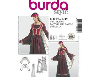 2509 Burda, Historical Costumes, Fairy, Castle Princess, Medieval Fairy, Fair Maiden, Dress Up, Halloween Cosplay, sorceress, misses Pattern