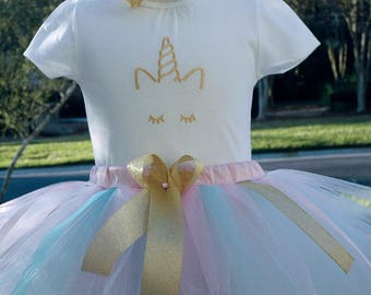 unicorn tutu outfit,baby girl birthday,personalized tutu set,birthday outfit,unicorn first birthday tutu outfit,baby unicorn tutu dress