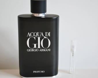 Giorgio Armani Acqua Di Gio Profumo Eau De Parfum 5 ml Glass Sample Spray
